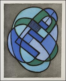 Mario Radice - Progressione G - 1974 - Acquaforte e acquatinta a colori - lastra 320 x 415 mm - Esemplare 91 su Tiratura 100 + XX romani + 6 P.A. - Firmata e numerata