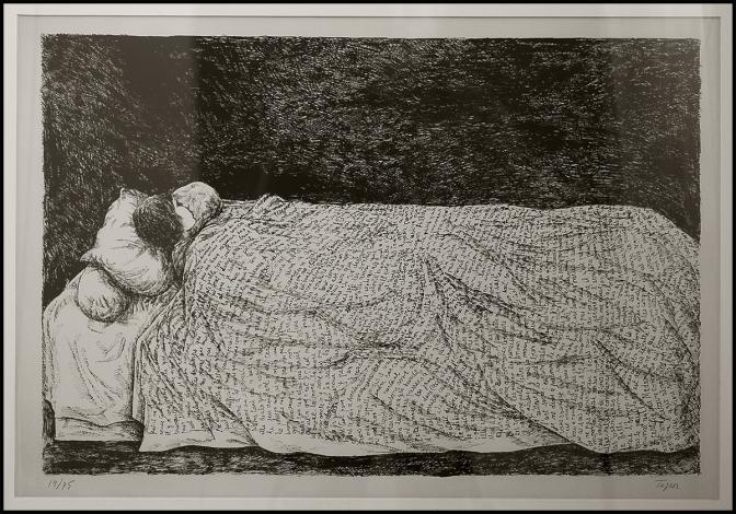 Roland Topor - Ragazza addormentata --1968