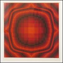 Victor Vasarely - Serigrafia firmata e numerata - Esemplare 6 tiratura 150 - 670 x 720 mm