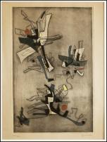 Ferdinand Springer - Fiore - 1950 - Bulino/acquatinta - 233 x 364 mm - su Velina - es. 107 tiratura 220
