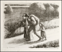 Camille Pissarro - Les Trimardeurs - 1896