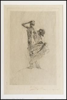 Felicien Rops - Il furto e la prostituzione dominano il mondo - Grandes planches - 1897/1893 (?) - Acquaforte - I Stato