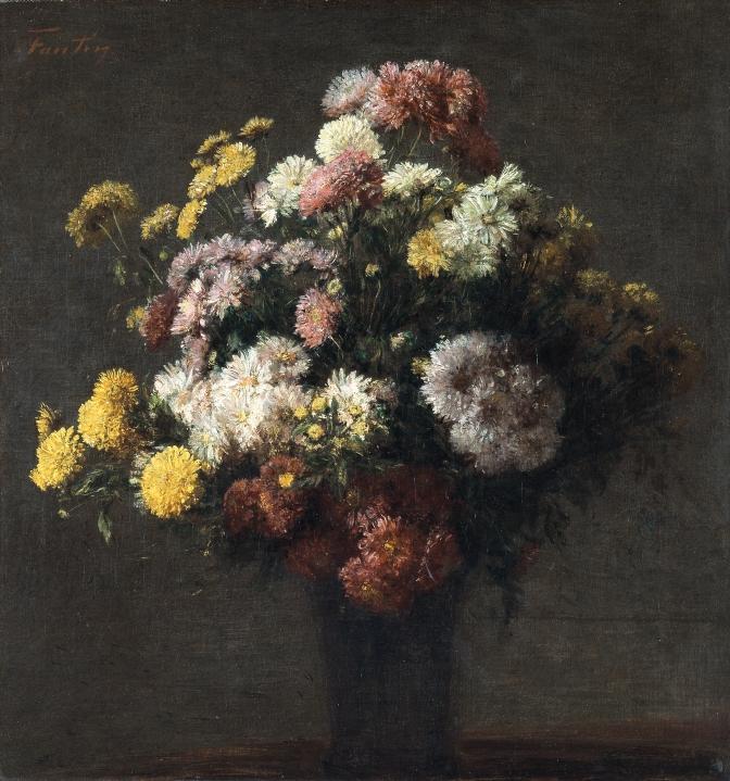 Henri Fantin-Latour - Vaso di Crisantemi - Museo Thyssen- Bornemisza