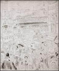 Chas Laborde - Ludgate Circus - 1928 - Acquaforte e punta secca