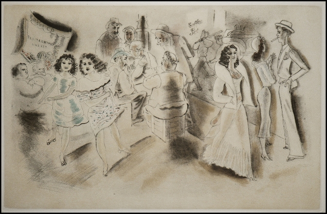 Chas Laborde - Quartier italien - 1932/1950 - acquaforte