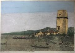 Canaletto acquaforte Torre di Malghera