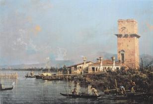 Canaletto - La Torre di Malghera - dipinto ad olio - collezione privata