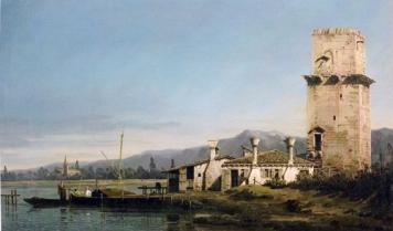 Bernardo Bellotto - La torre di Malghera - dipinto - Museo di Washington