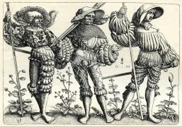 gruppo-di-tre-landsknechts-landsknechte-soldati-mercenari-incisione-su-rame-di-daniel-hopfer-c-1500-hhw3ht
