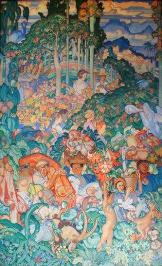 3and5-Sir_Frank_Brangwyn-British_Empire_Panels-Canada-609x396-1926-1930-Glynn_Vivian_Art_Gallery-Swansea