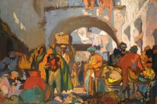 """""""A market street in Tangier"""""""