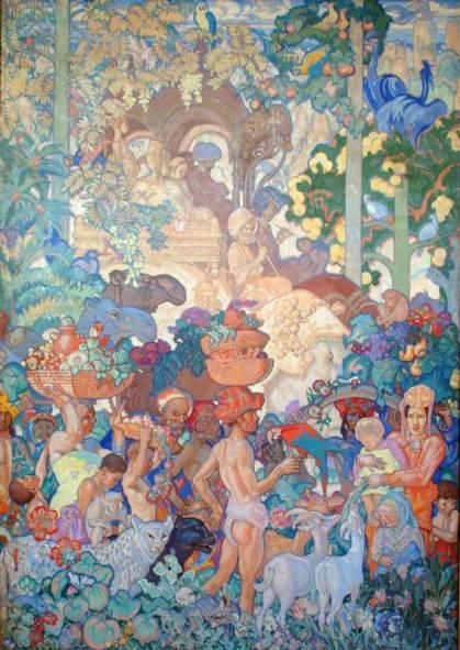 Brangwyn, Frank; British Empire Panel (11) India; Glynn Vivian Art Gallery; http://www.artuk.org/artworks/british-empire-panel-11-india-226892
