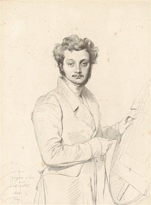 Ritratto di Luigi Calamatta, da un disegno di Ingres inciso da Desvachez